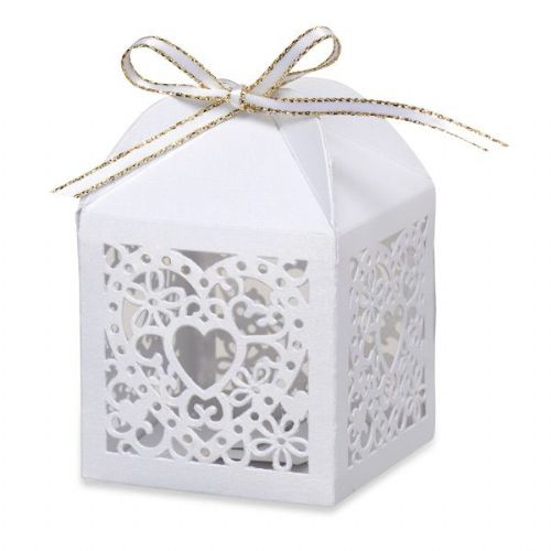 Heart laser favour box